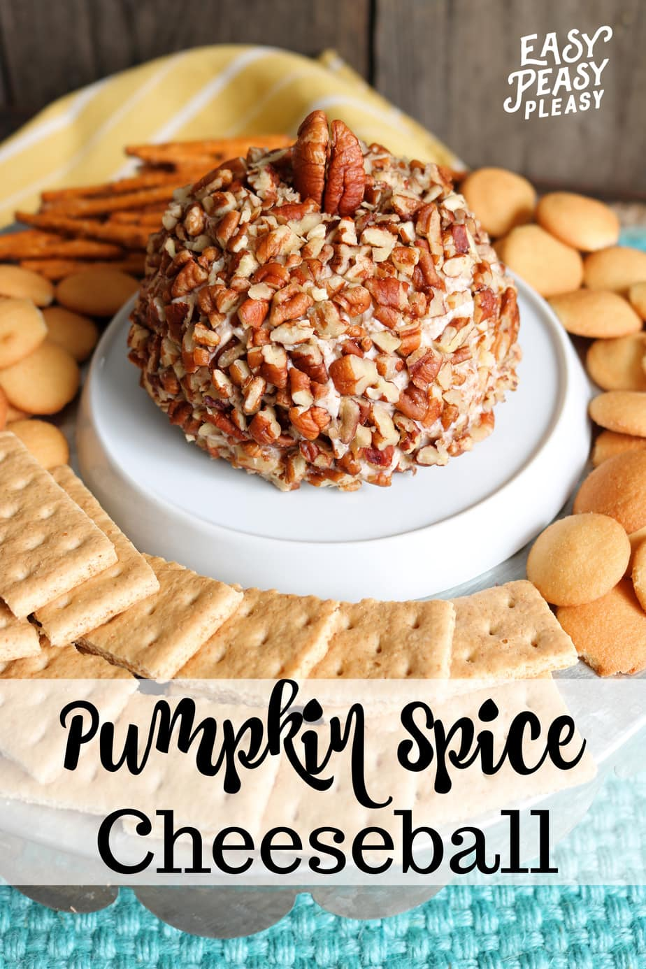 Pumpkin Spice Cheese Ball is the perfect appetizer for the Holidays.