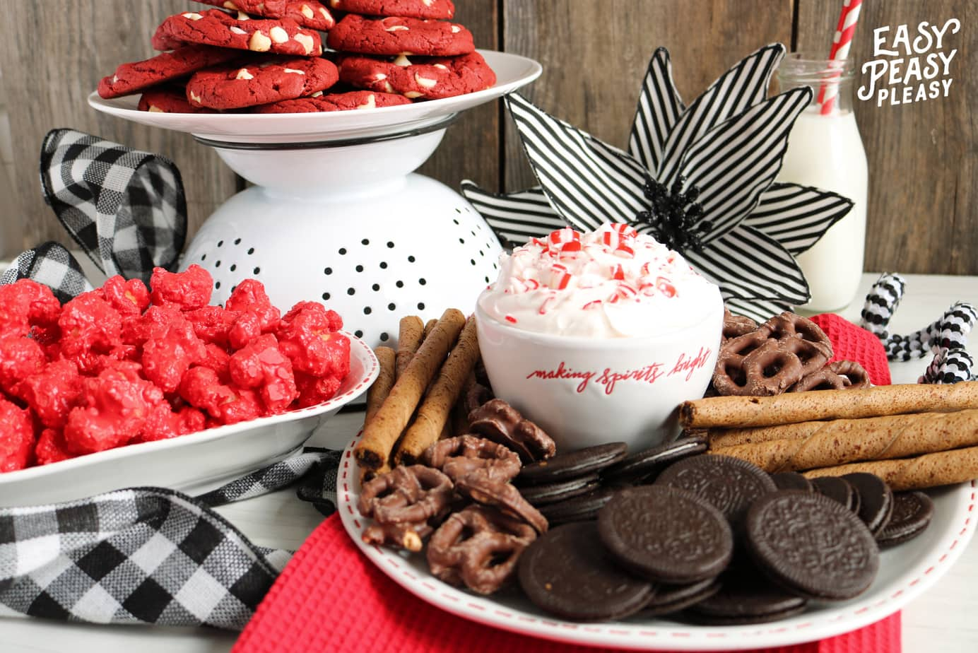 (ad) Easy 4 Ingredient Peppermint Dip Recipe using great foodie finds at Guess and Company.