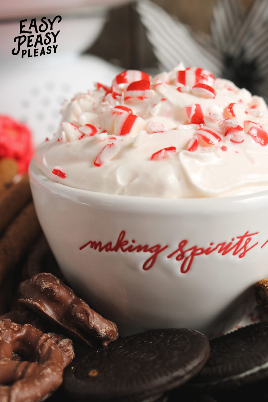 (ad) Easy Peppermint Dip using only 4 Ingredients