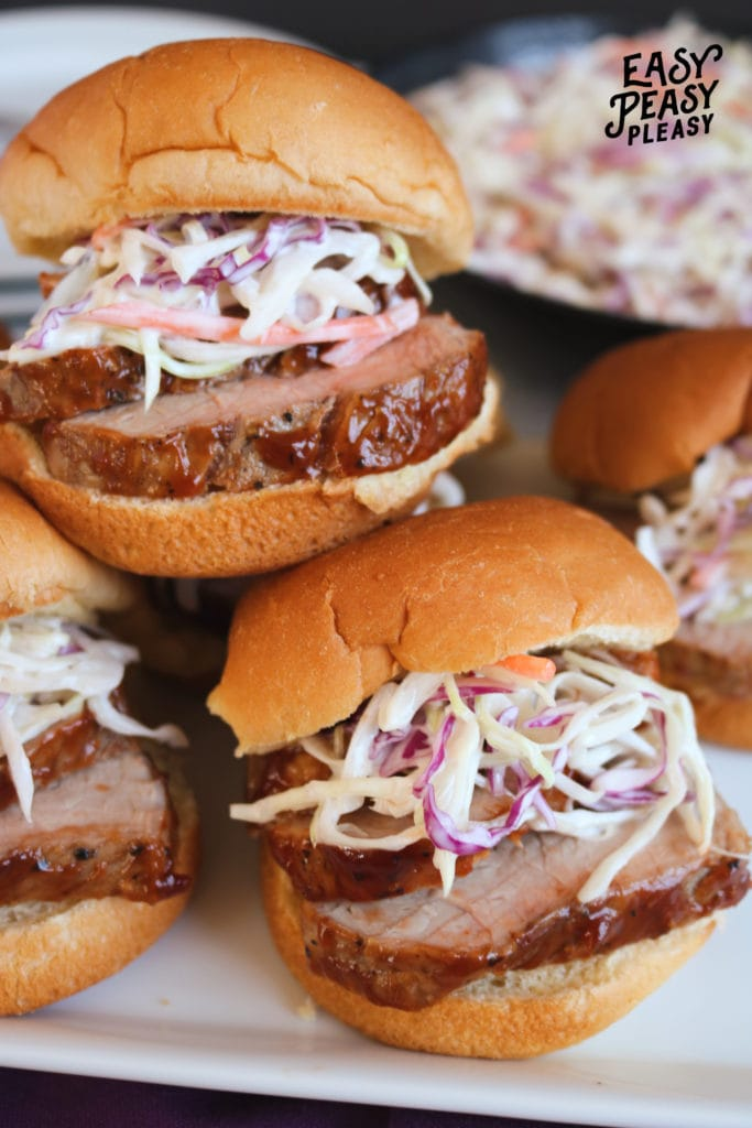 Cook up this super easy BBQ Pork Tenderloin Sliders Recipe any day of the week.