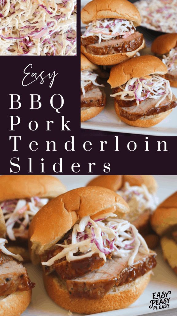 Easy BBQ Pork Tenderloin Sliders Recipe using a few ingredients to make a great lunch or delicious dinner.