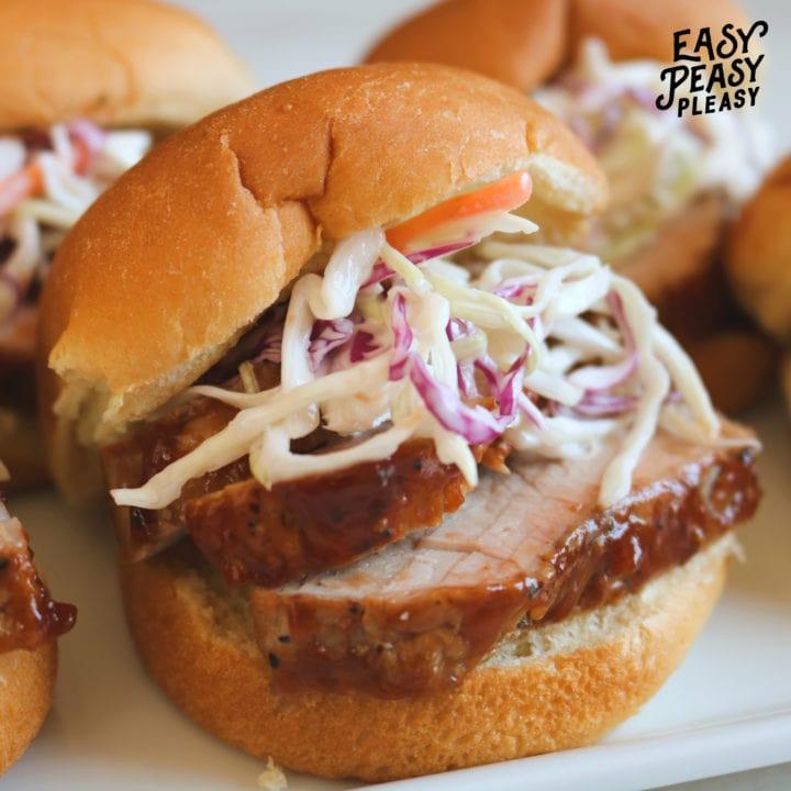 BBQ Pork Tenderloin Sliders