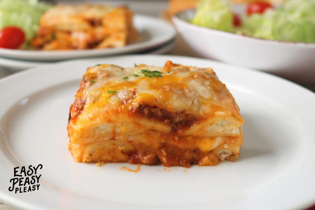 Lazy Lasagna using Ravioli to easily feed your family any night of the week