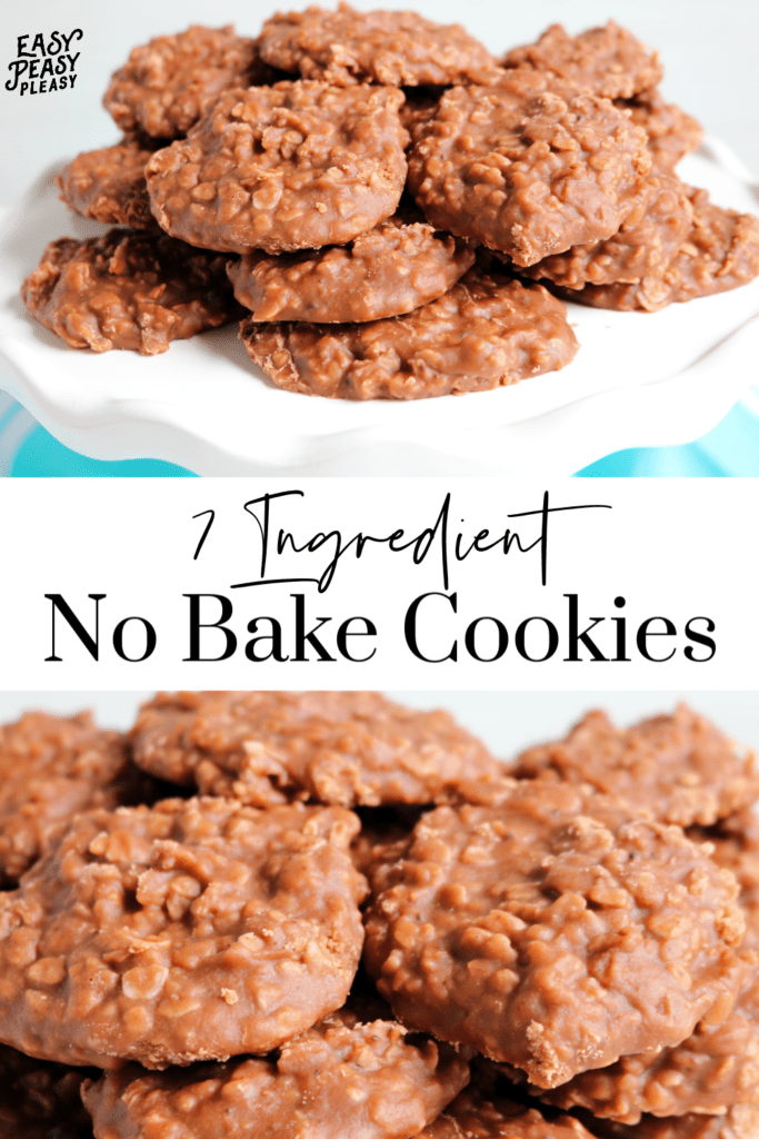 No Bake Cookies Using only 7 ingredients and a microwave. Perfect cookie to get the kids involved.