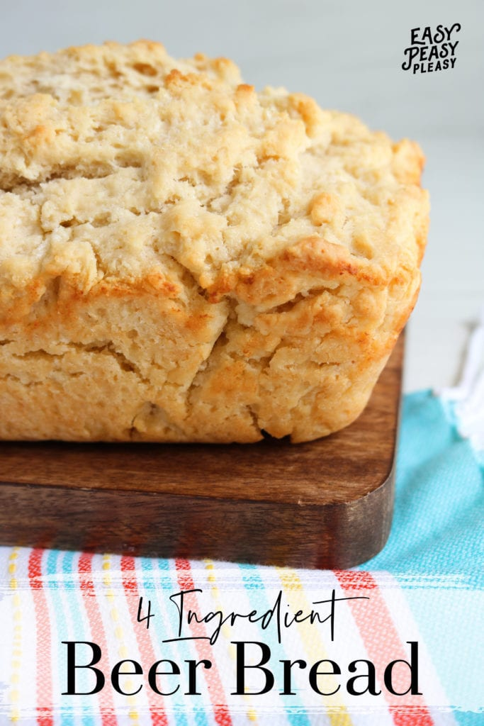 Rustic Beer Bread uses only 4 ingredients and you don't need yeast.