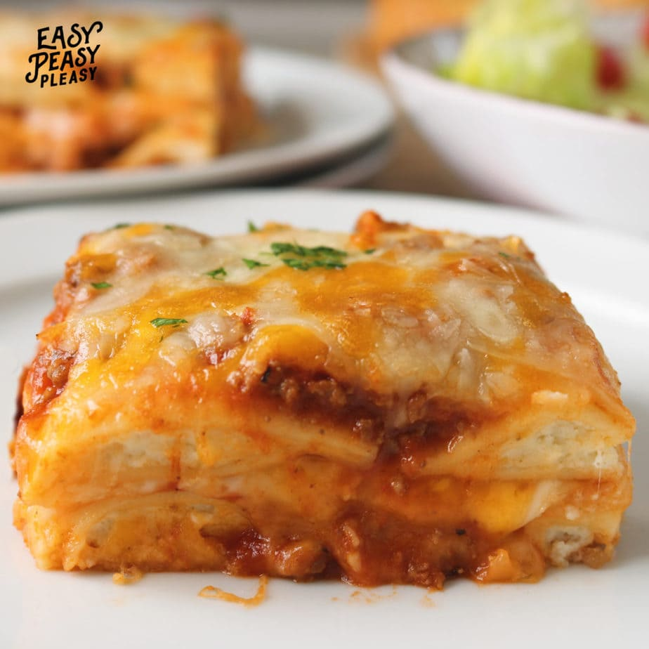 Spend less time cooking with this easy Lazy Lasagna with Ravioli recipe.