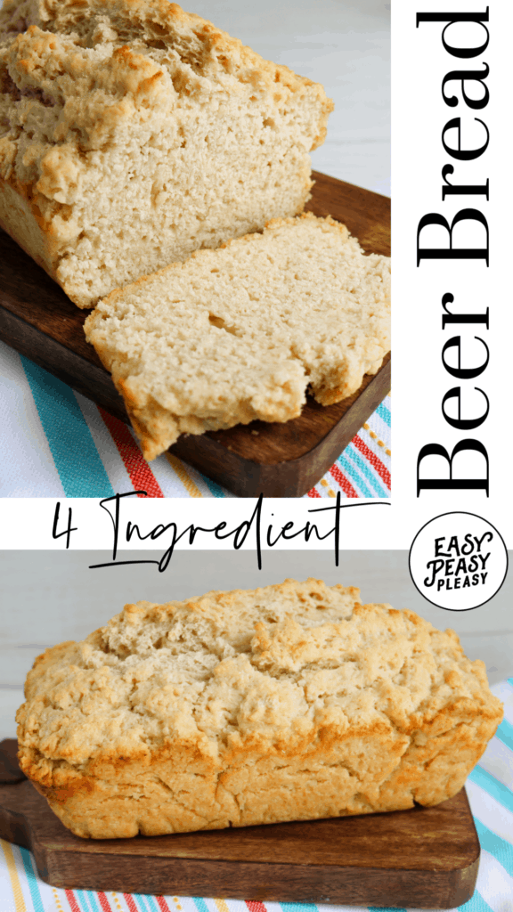 This 4 ingredient Beer Bread recipe is yeast free.