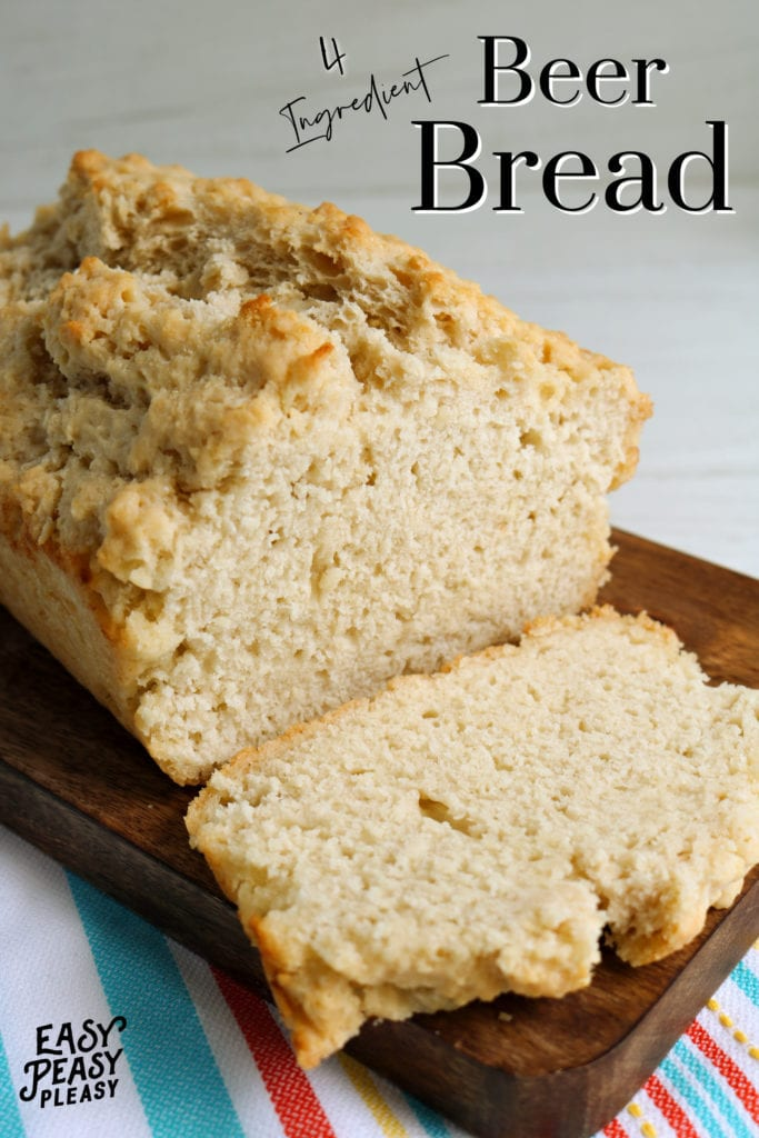 Yeast Free Beer Bread using only 4 ingredients.