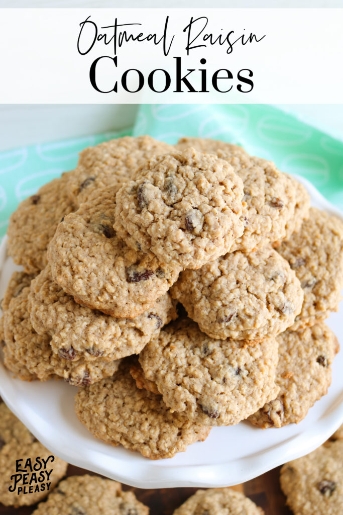 Oatmeal Raisin Cookies that are soft and chewy and your whole family will love.