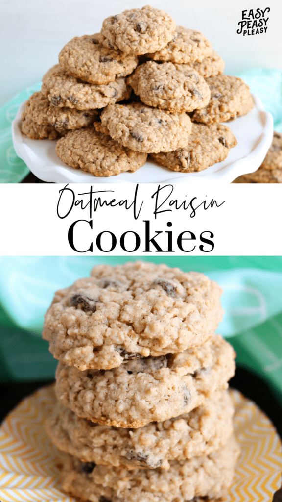 Soft Batch Oatmeal Raisin Cookies using your pantry staples for a satisfying sweet treat that your family will devour.