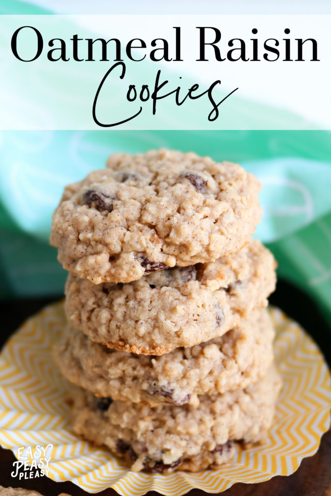 These Soft and Chewy Oatmeal Raisin Cookies will be devoured in no time.